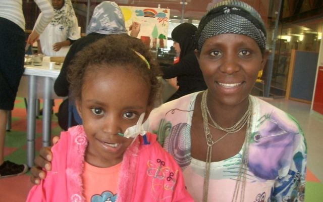 Talila and her mother get care at Hadassah's Ein Kerem hospital in Jerusalem.