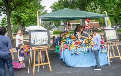 In addition to opportunities for kids to create arts and crafts, the festival offers chances for adults to buy from community vendors.