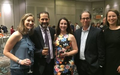 Joining JF&CS CEO Rick Aranson (second from left) are Carly Tritt Siegel, Mandy Wright, Marc Chernau and Alex Rittenberg.