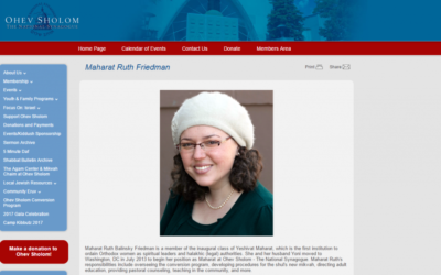 Washington's Ohev Sholom -- The National Synagogue, is one of four Orthodox Union members employing women in rabbinic roles. (Screen grab from https://ostns.org)