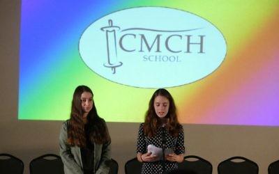 CMCH seventh-grade girls serve as hosts for the celebration.