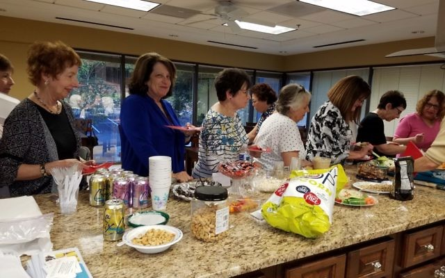 In addition to sampling Safa Nooromid's recipes, attendees at Hadassah's Every Bite Counts event brought an array of healthy snacks.