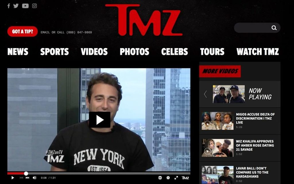 Evan Berke appearing on TMZ July 11.
