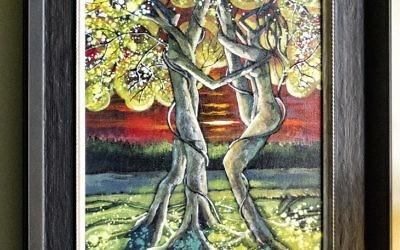 "Sharon Silva says she is attracted to art featuring trees and nature, such as ""Twilight Tango"" by Ford Smith."
