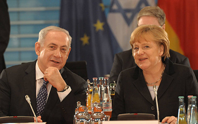 Israeli Government Press Office photo Israeli Prime Minister Benjamin Netanyahu and German Chancellor Angela Merkel have a meeting in 2012.