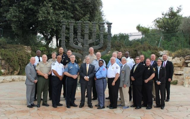 A GILEE delegation gathers outside the Knesset in Israel in July, 2017