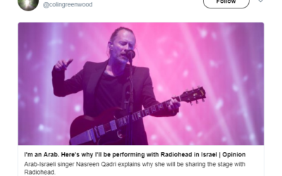 From Radiohead member Colin Greenwood's Twitter feed