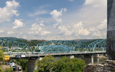 Downtown Chattanooga's bridges over the Tennessee River are a prominent part of downtown. (Photo by Jeff Orenstein)
