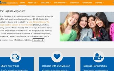 From the mission statement up, jGirls has been built by Jewish teen girls for Jewish teen girls. (jgirlsmagazine.org screen shot)