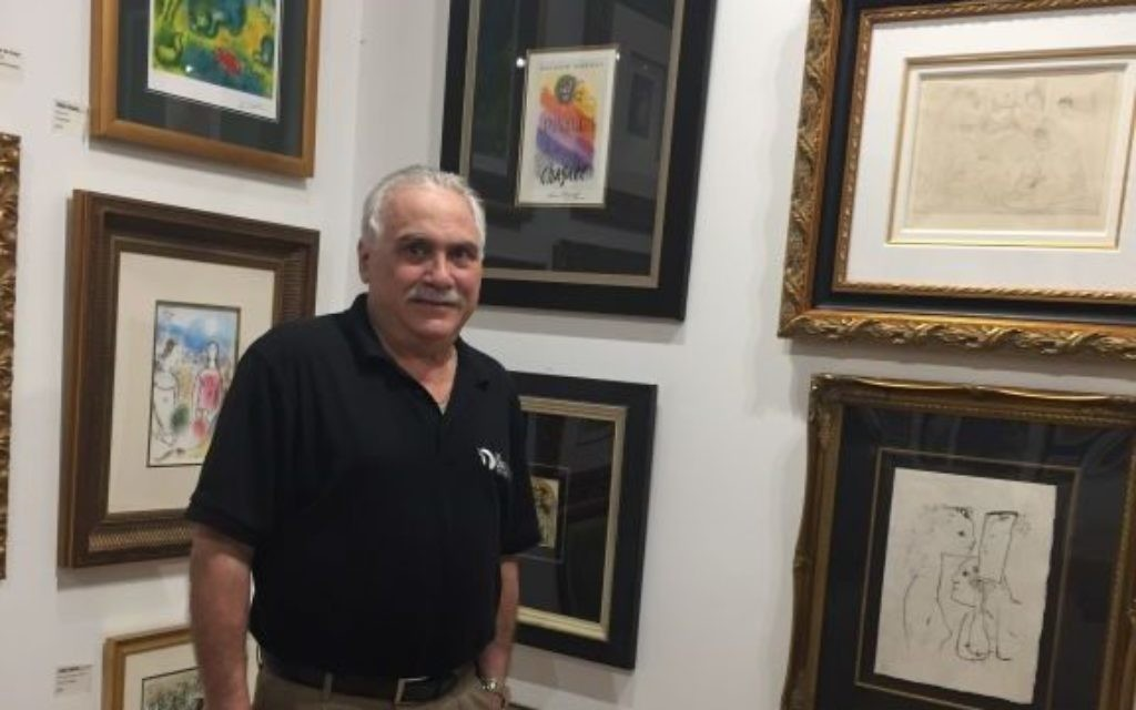 Mark Jaffe, who opened the Chai Gallery in spring 2016, has a collection of works by Picasso and Chagall on display.