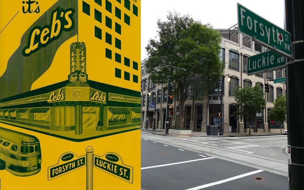 The site of multiple civil rights demonstrations and sit-ins, Leb's Deli no longer exists. The Landmark Diner occupies the former Leb's location at the corner of Forsyth and Luckie streets.
