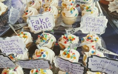Baked goods help raise funds and awareness about mental illness.