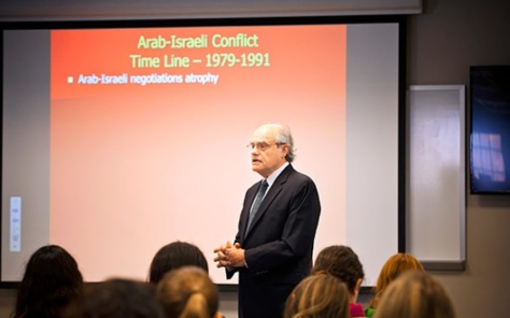 Photo courtesy of Emory Magazine Professor Ken Stein teaches about the Arab-Israeli conflict at Emory University.