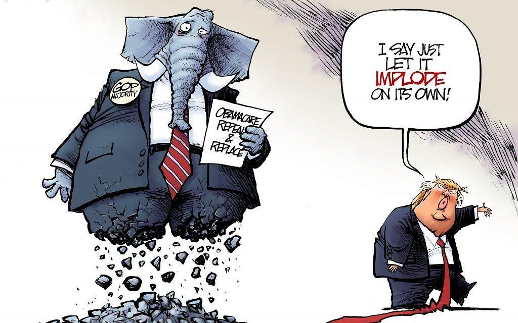 Cartoon by Nate Beeler, The Columbus Dispatch