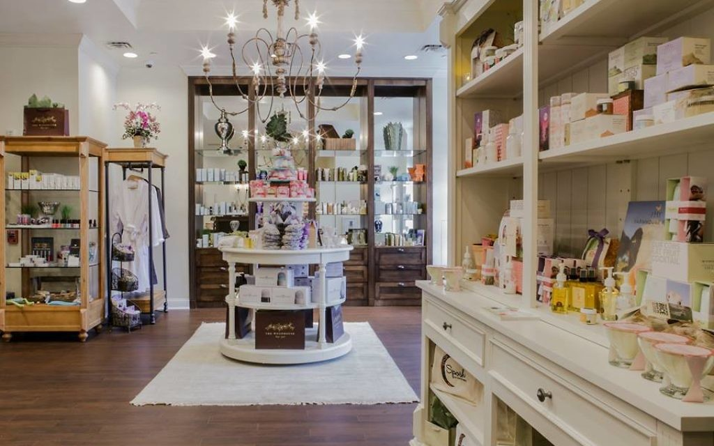 Guests can purchase seasonal lotions, essential oils and organic scrubs from international vendors and cruelty-free manufacturers exclusive to Woodhouse Day Spa's boutique.