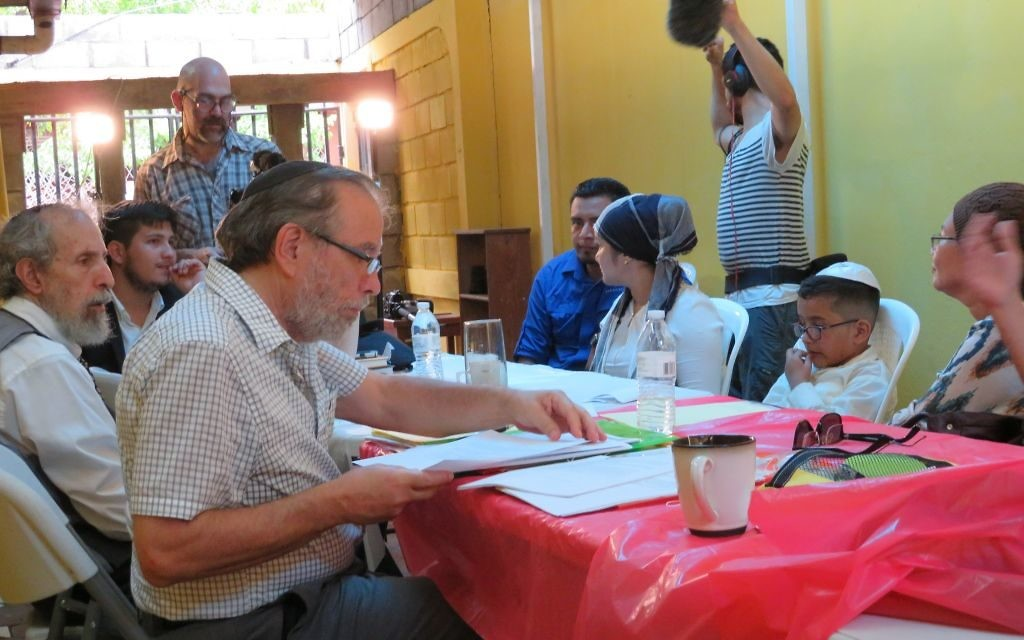 Rabbi Mark Hillel Kunis sits on the beit din examining candidates for conversion in Nicaragua.