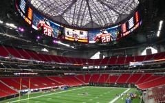Inside Mercedes-Benz Stadium, where SuperBowl LIII will be held.