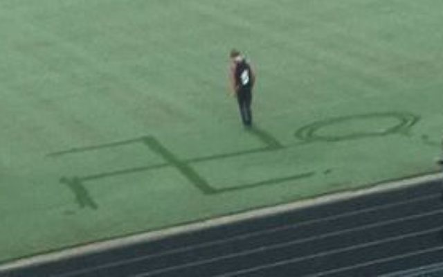 This image reportedly helped identify the student involved in drawing a swastika in the dew at Grayson High in August.