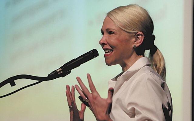 Katie Koestner was a hit when she spoke at Weber in September 2016.
