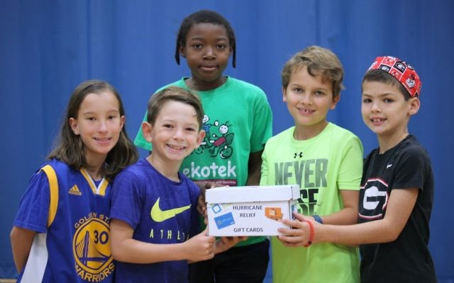Epstein School students make donations for hurricane relief during a dress-down day Sept. 5.