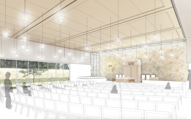 A rendering of the proposed renovations at Congregation Children of Israel.