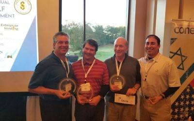 Chuck Ganz, Jonathan Ganz, Alan Cohen and Bob Wilensky take home first place in gross score.