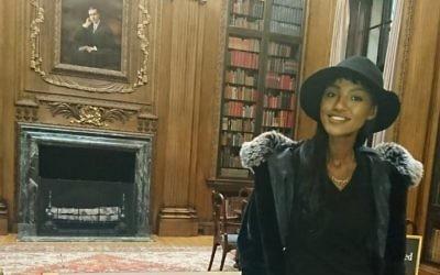 Titi Aynaw visits Harvard during a previous U.S. tour.