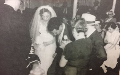 Lucy Carson's wedding in 1953 was the first marriage ceremony officiated by Rabbi Emanuel Feldman at Congregation Beth Jacob.