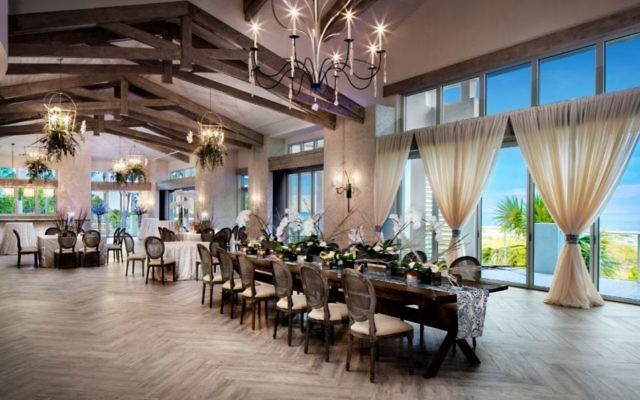 Photos by Greg Ceo The Grand Ocean Terrance has more than 5,000 square feet and can seat up to 220 people for dinner.