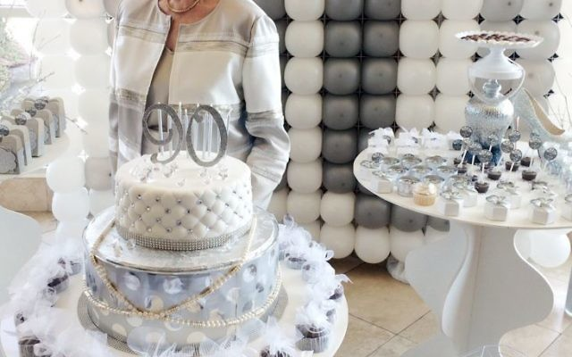 """Pauline """"Polly"""" Schaffer DeNur celebrated her birthday where she started life 90 years earlier."""