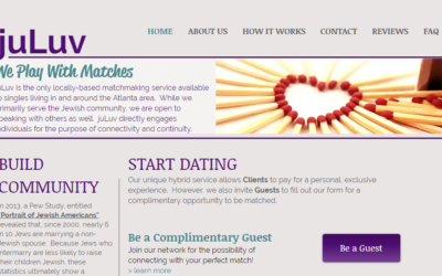 A screenshot of the juLuv website.