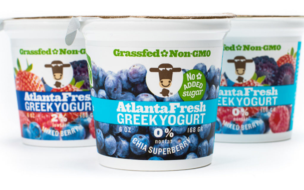 AtlantaFresh produced 100 percent non-GMO dairy products, including Greek yogurt.