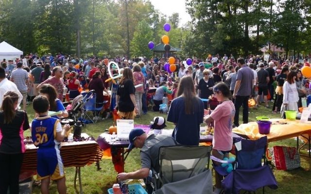 Brook Run Park is packed to raise money and have fun in Emily Moore's memory.