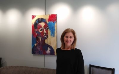 Susan Proctor likes to depict strong women in her paintings.