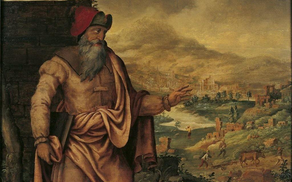 Maarten van Heemskerck's presentation (from 1560 to 1565) of the prophet Isaiah predicting the return of the Jews from exile.