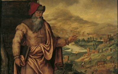 Maarten van Heemskerck's presentation (from 1560 to 1565) of the prophet Isaiah predicting the return of the Jews from exile.