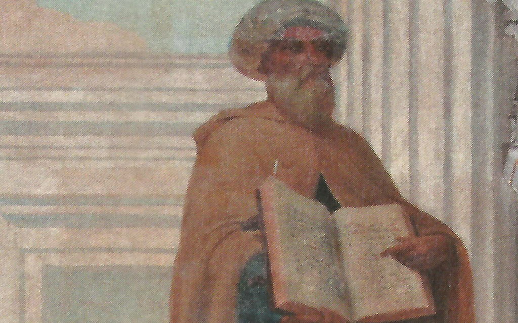 """Not every physician combines the caring, knowledge and Jewishness of Maimonides, as shown in a detail from Veloso Salgado's """"Arabic Medicine"""" painting from around 1906."""