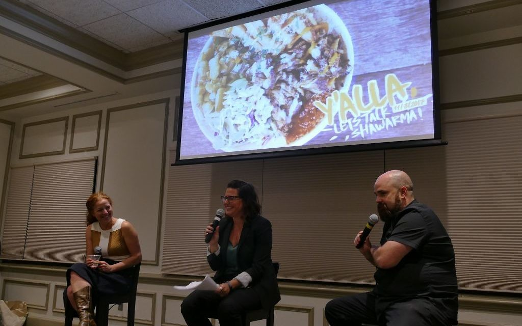 On a panel with Hagar Sides and Todd Ginsberg, Jennifer Johnson (left) explains what it takes to start and run a food business.