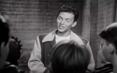 """Frank Sinatra sings about America. (screen grab from YouTube video of """"The House I Live In"""")"""
