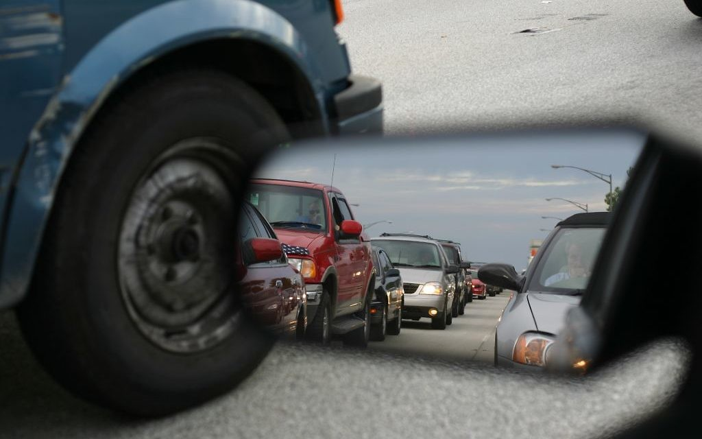 How much time can you waste in traffic? (Photo by grendelkhan, https://www.flickr.com/photos/grendelkhan/107208570/, via Wikimedia Commons)