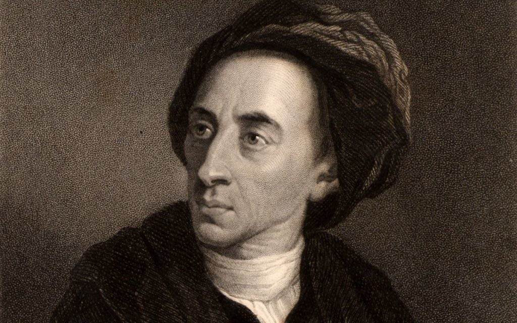 Alexander Pope, a well-known English poet who lived 300 years ago and wrote highly polished verse.
