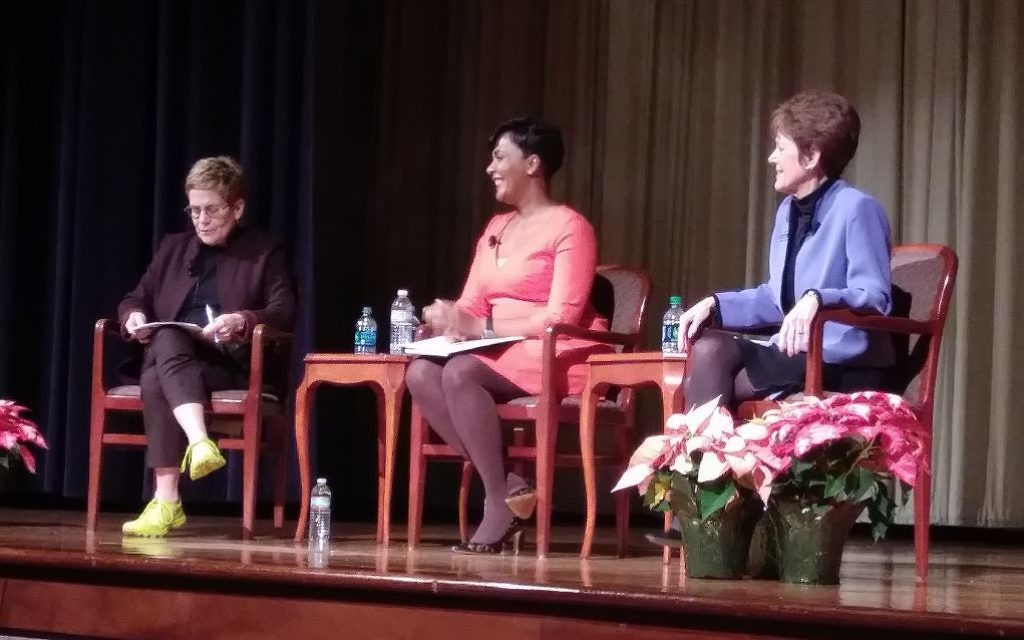 To help her and her supporters pick a runoff candidate, Cathy Woolard questions Keisha Lance Bottoms and Mary Norwood on Nov. 28. Woolard endorsed Norwood the next day.