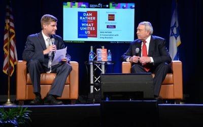 Atlanta Journal-Constitution political reporter Greg Bluestein interviews Dan Rather to close the Book Festival on Nov. 19.