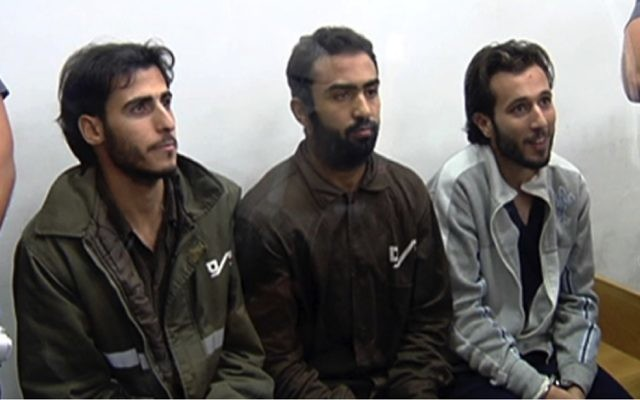 Photo courtesy of Channel 2 News Israel These three terrorists were convicted of killing four Israelis in the 2016 Sarona Market attack in Tel Aviv.