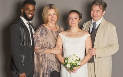 """The Mystery of Love and Sex"" features (from left) Terrance Smith as Jonny, Tiffany Morgan as Charlotte's mother, Lucinda, Rachel Wansker as Charlotte, and Donald McManus as Charlotte's father, Howard."