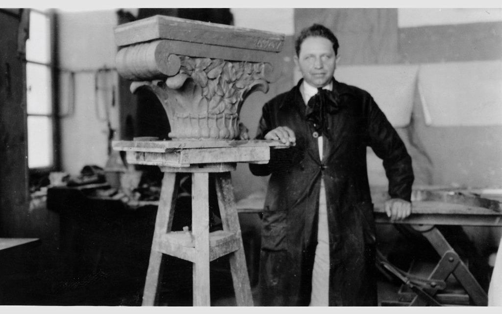 Artist Zeev Raban is shown in 1930.