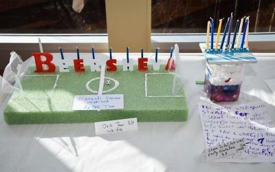 Atlanta Jewish Academy Lower School students put their special chanukiot on display.