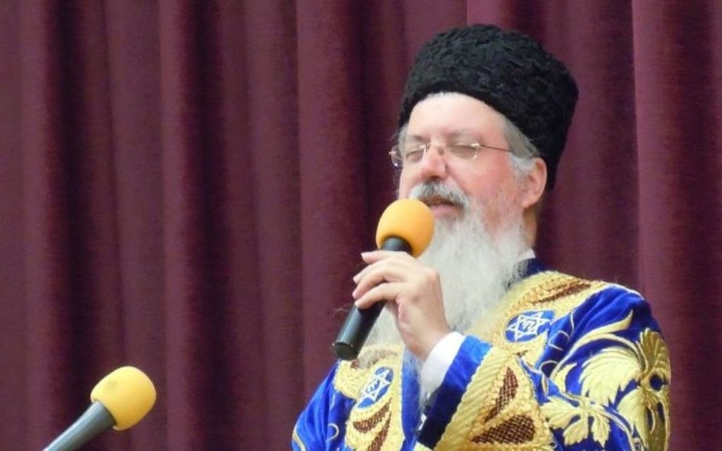 The chief rabbi of the Bukharian communities of the United States and Canada, Itzhak Yehoshua, visits Atlanta in October 2015 for the dedication of Congregation Beit Yitzchak's new building in Norcross.