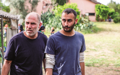 "Tzahi Grad and Ala Dakka portray an Israeli and a Palestinian trying to work together in ""The Cousin."""