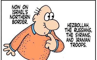 Cartoon by Yaakov Kirschen, Dry Bones